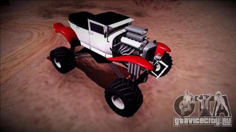 GTA 5 Albany Franken Stange Monster Truck для GTA San Andreas вид сзади