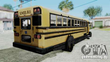 Armored School Bus для GTA San Andreas вид слева