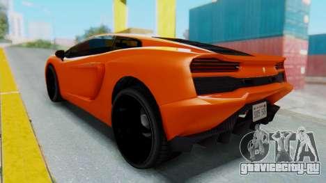 GTA 5 Pegassi Vacca IVF для GTA San Andreas вид сзади слева