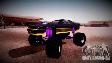 GTA 5 Imponte Ruiner Monster Truck для GTA San Andreas вид изнутри