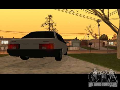 Ваз 21099 Без Посадки Авто Net для GTA San Andreas вид сзади слева