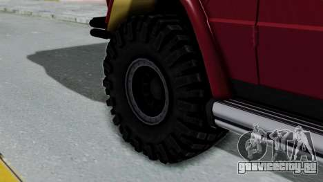 Mercedes-Benz G500 Off-Road v2.0 для GTA San Andreas вид сзади слева