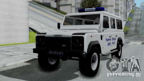 Land Rover Defender Serbian Border Police для GTA San Andreas