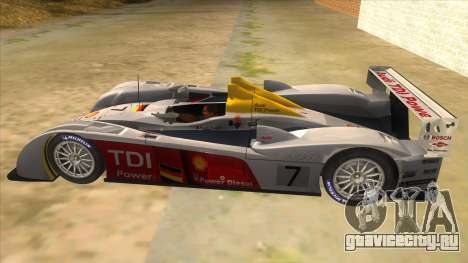 Audi R10 для GTA San Andreas вид слева