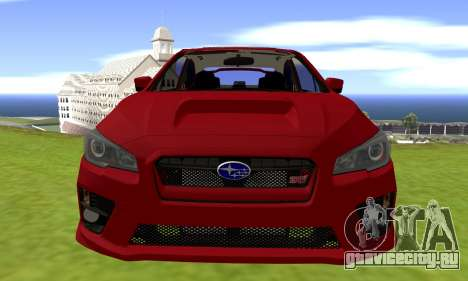 Subaru WRX STI 2015 для GTA San Andreas вид справа