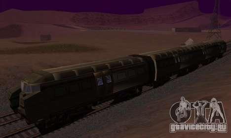 Batman Begins Monorail Train Vagon v1 для GTA San Andreas вид сзади слева