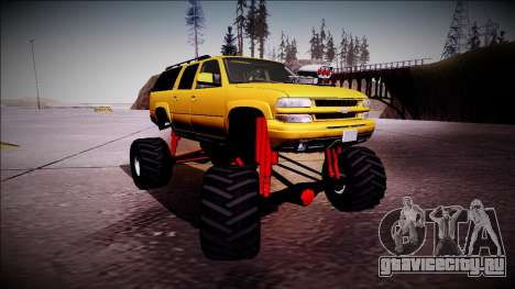 2003 Chevrolet Suburban Monster Truck для GTA San Andreas вид слева