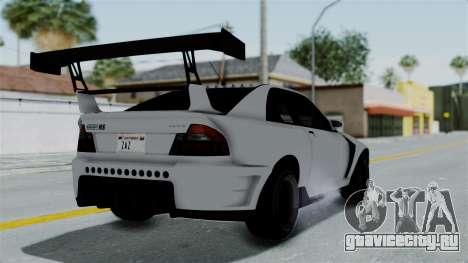 GTA 5 Karin Sultan RS Drift Double Spoiler PJ для GTA San Andreas вид слева
