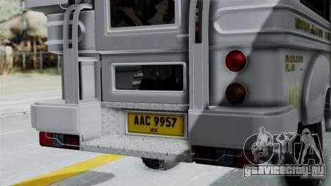 Jeepney Philippines для GTA San Andreas вид изнутри