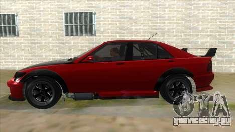 GTA V Karin Sultan RS 4 Door для GTA San Andreas вид сбоку