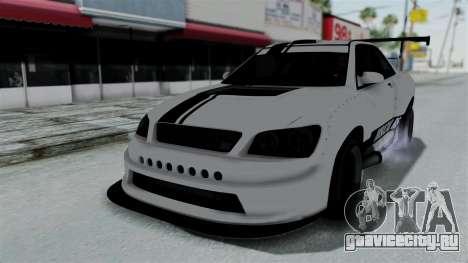 GTA 5 Karin Sultan RS Drift Double Spoiler PJ для GTA San Andreas вид сверху