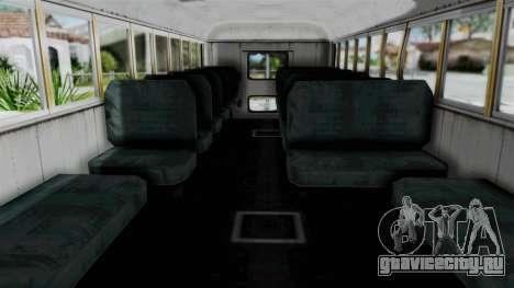 Armored School Bus для GTA San Andreas вид справа