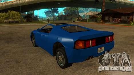 GTA LCS Deimos SP для GTA San Andreas вид сзади слева