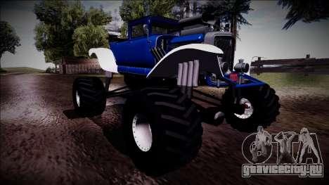 GTA 5 Albany Franken Stange Monster Truck для GTA San Andreas вид снизу