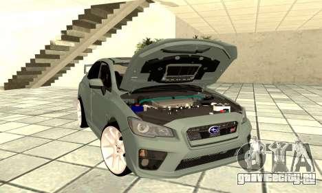 Subaru WRX STI 2015 для GTA San Andreas вид сзади