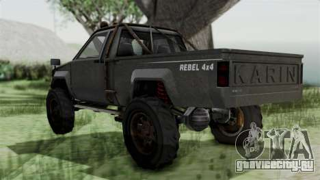 GTA 5 Karin Rebel 4x4 Worn IVF для GTA San Andreas вид слева