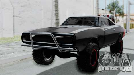 Dodge Charger 1970 Off Road  F&F7 для GTA San Andreas вид сзади