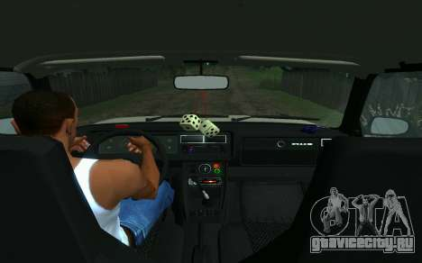 Ваз 2107 Такси для GTA San Andreas вид сзади слева