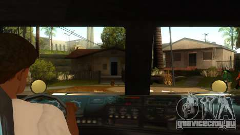 GTA V HVY Barracks Semi для GTA San Andreas вид изнутри