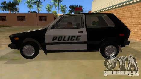 Yugo GV Police для GTA San Andreas вид слева