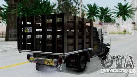 Jeep con Estacas Stylo Colombia для GTA San Andreas вид слева
