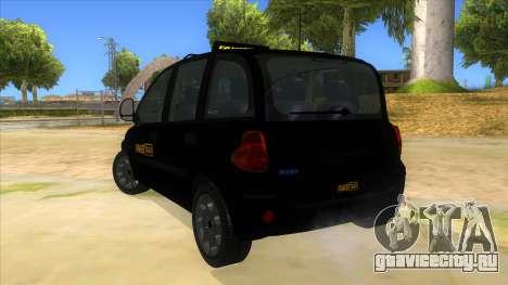 Fiat Multipla FAKETAXI для GTA San Andreas вид сзади слева
