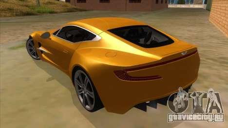 Aston Martine One-77 2010 Autovista для GTA San Andreas вид сзади слева