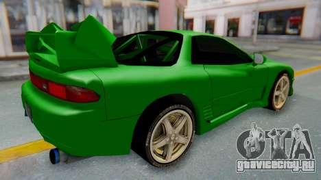 Mitsubishi GT3000 FnF для GTA San Andreas вид сзади слева