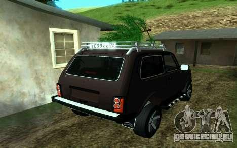Ваз Нива 2121 Лесник для GTA San Andreas вид слева