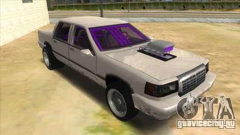 Stretch Sedan Drag для GTA San Andreas вид сзади