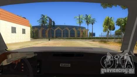 Zastava Poly 1.3 для GTA San Andreas вид изнутри