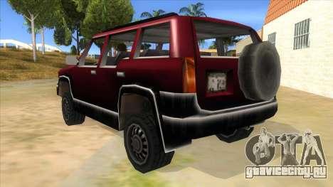 GTA III Landstalker для GTA San Andreas вид сзади слева