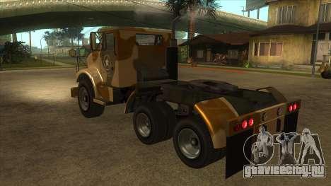 GTA V HVY Barracks Semi для GTA San Andreas вид сзади слева