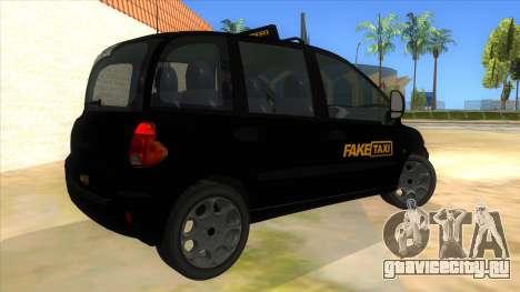 Fiat Multipla FAKETAXI для GTA San Andreas вид справа