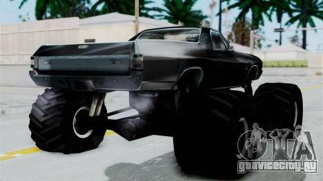 Chevrolet El Camino SS 1970 Monster Truck для GTA San Andreas вид слева