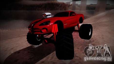 Dodge Viper SRT10 Monster Truck для GTA San Andreas вид справа