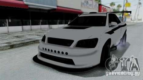 GTA 5 Karin Sultan RS Drift Double Spoiler PJ для GTA San Andreas вид изнутри