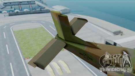 PC-6 USAF Markings для GTA San Andreas вид сзади слева