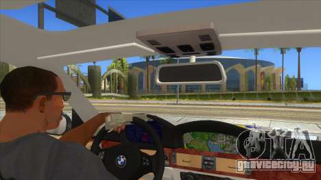 BMW 330XD Romania Police для GTA San Andreas вид изнутри