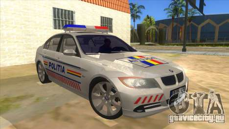 BMW 330XD Romania Police для GTA San Andreas вид сзади