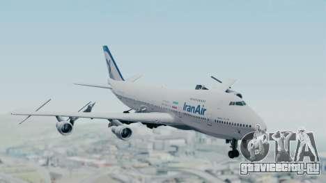 Boeing 747-186B Iran Air для GTA San Andreas вид сзади слева