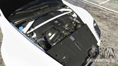 Aston Martin Vantage GT12 2015 для GTA 5 вид сзади справа