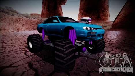 Nissan Silvia S14 Monster Truck для GTA San Andreas салон