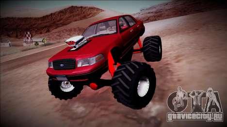 2003 Ford Crown Victoria Monster Truck для GTA San Andreas вид справа