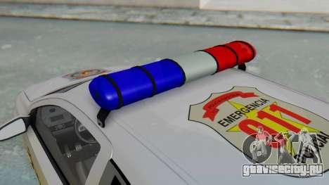 Opel-Vauxhall Astra Policia для GTA San Andreas вид сзади
