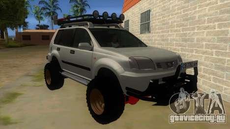 Nissan X-Trail 4x4 Dirty by Greedy для GTA San Andreas вид сзади