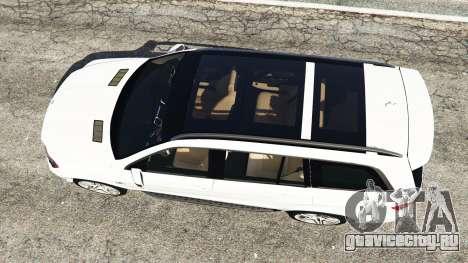 Mercedes-Benz GL63 (X166) AMG для GTA 5 вид сзади
