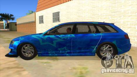 Audi RS6 Blue Star Badgged для GTA San Andreas вид слева