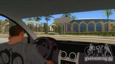 Dacia Logan Romania Police для GTA San Andreas вид изнутри