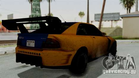 GTA 5 Karin Sultan RS Drift Big Spoiler для GTA San Andreas вид слева